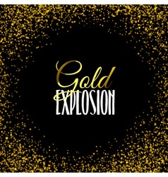 Luxury golden texture Gold frame glitter isolated vector image