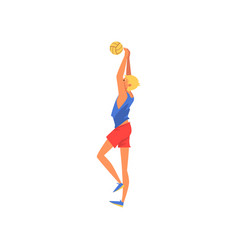man playing with ball male volleyball player vector image