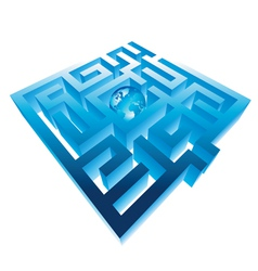 Maze and planet vector image