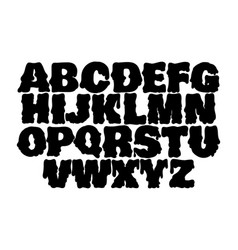melting type trendy font made in hand drawn line vector image