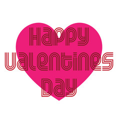 Mod valentine typography graphic with heart vector