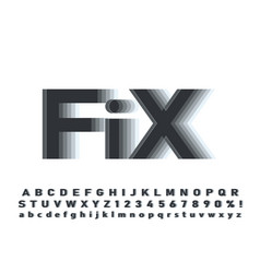 modern abstract font and alphabet vector image