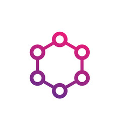 molecule icon on white vector image