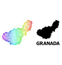 Net map granada province with spectrum gradient vector