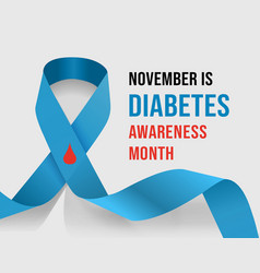 november diabetes awareness month vector image