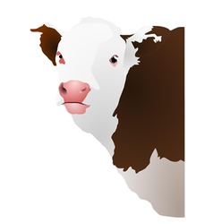Of a cows head vector