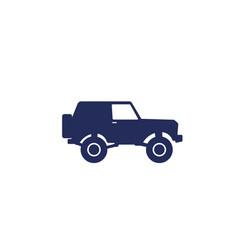 Off-road car 4wd suv icon vector