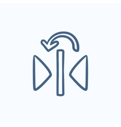 Play button sketch icon vector image
