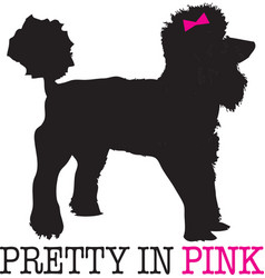 Pretty in pink vector