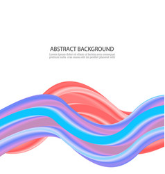 red and blue color swirl concept abstract vector image