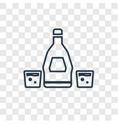 rum concept linear icon isolated on transparent vector image