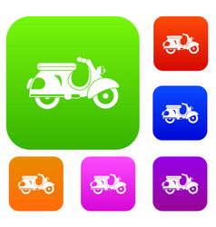 scooter set collection vector image