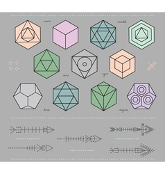 Set of geometric hipster shapes and arrows4f7 vector