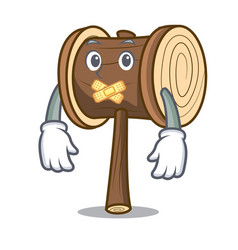 Silent mallet mascot cartoon style vector