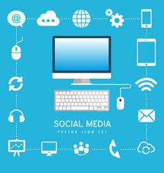 Social media computer internet business technology vector