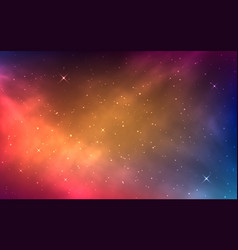 Space background with colorful nebula bright vector