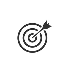 target icon graphic design template vector image