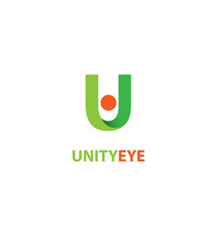 unity eye logo vector image