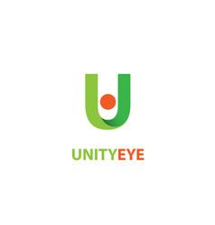 unity eye logo vector image