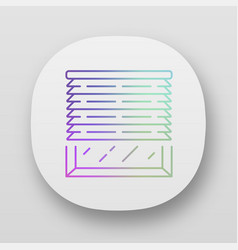 Venetian blinds app icon house and office window vector