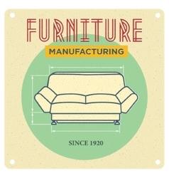 Vintage advertising Furniture vector