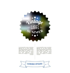 Vintage Sale Special Offer Sticker vector