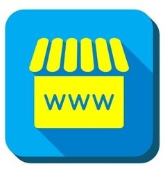 Webshop longshadow icon vector