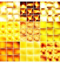 Yellow and orange big set of backgrounds vector image