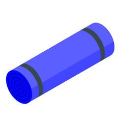 Yoga mattress icon isometric style vector