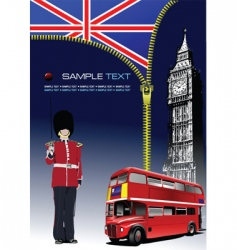 zipper open London vector image