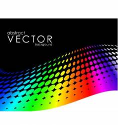 abstract background with rainbow circl vector image