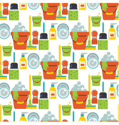 cleaning service design home household work vector image