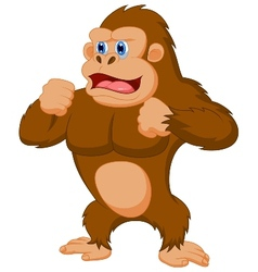 Gorilla cartoon vector image