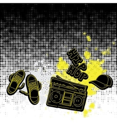 hip hop music seamless pattern vector image