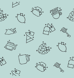 tea concept icons pattern vector image