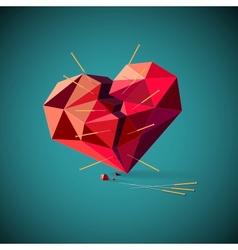 Broken heart with acupuncture needles vector image