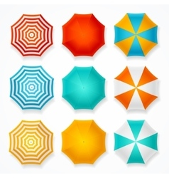 Colorful Sun Umbrella Set vector image vector image
