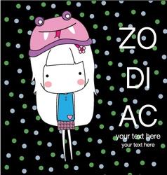 Cute Baby Girl Set zodiac vector image vector image