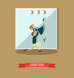 Dancers in flat style vector