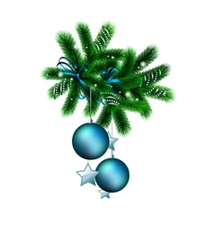 decorated branch vector image vector image