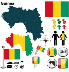 Guinea map vector image vector image
