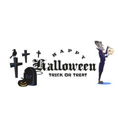 halloween vampire in coffin draculas monster in vector image