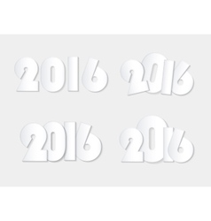 light white style 2016 new year combinations vector image vector image