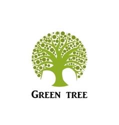 Green tree circle icon Garden concept vector image