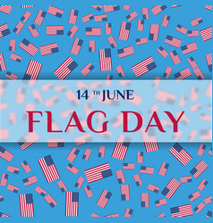 greeting card of flag day vector image vector image