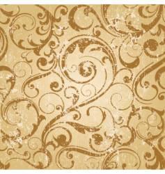 grunge antique wallpaper tile vector image