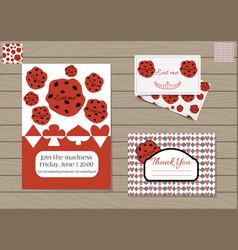 set cookie eat me vector image vector image