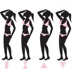 body types vector image