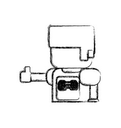 gamer boy pixelated vector image vector image