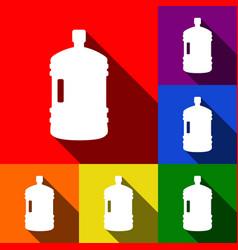 plastic bottle silhouette sign set of vector image